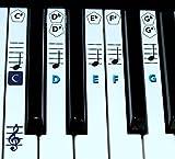 finefun Piano Clavier Clé et Note de musique autocollants en Piano d\