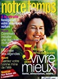 Telecharger Livres NOTRE TEMPS MAGAZINE No 369 du 01 09 2000 RETRAITE RENEGOCIEZ VOTRE ASSURANCE VOITURE MAISON COMMENT INSTALLER UNE DOUCHE MULTIJET L ECOSSE DES LEGENDES 5 BONNES RESOLUTIONS POUR VIVRE MIEUX GARDEZ VOTRE BONNE MINE DE L ETE (PDF,EPUB,MOBI) gratuits en Francaise