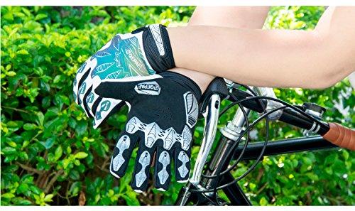 QEPAE Reflektierenden Fahrradhandschuhe Sport Gel Handschuhe Gloves Grau (XL)