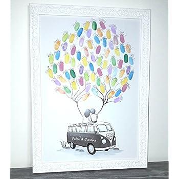personalisierter wedding tree auto fingerabdruck baum hochzeit poster 29x42cm geschenk zur. Black Bedroom Furniture Sets. Home Design Ideas