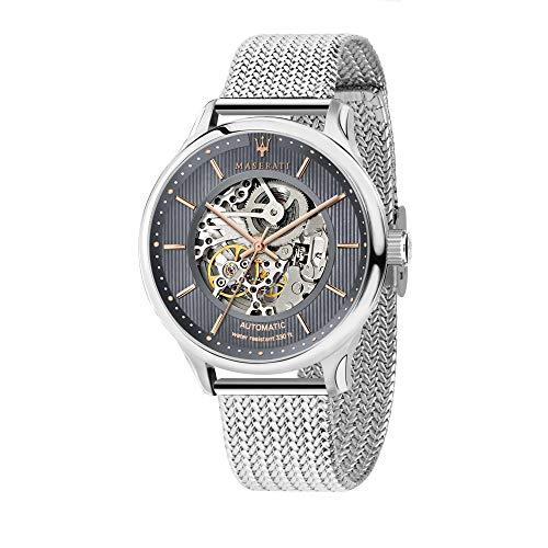Maserati Reloj Analógico para Hombre de Automático con Correa en Acero Inoxidable R8823136004
