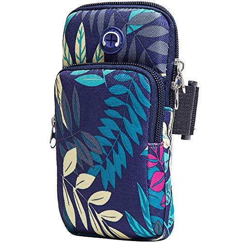 Sport-Arm-Tasche, Universelle Gymnastik-Armbinden-Handyhalter-Tasche Mit Kopfhörerloch Für Apple iPhone Xr/Xs Max/X 8 7, Samsung Galaxy S9 / S8 / S7 / Und LG-Blau