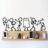 #10: DeStudio Enjoying Party, Multi Color, Wall Stickers (Wall Covering Area : 65cm X 20cm) (MultiColor)-12365