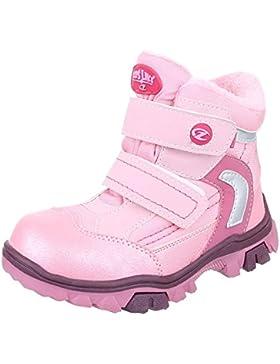 Ital-Design Stiefel & Boots Kinder Schuhe Biker Boots Blockabsatz Mädchen Klettverschluss Stiefeletten