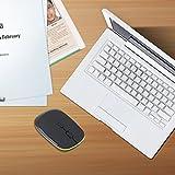 Ergonomically Designed Comfortable 2.4GHz Ultra-Slim Mini 1600DPI USB Wireless Optical Mouse Silver For PC Laptop JP-350,Black