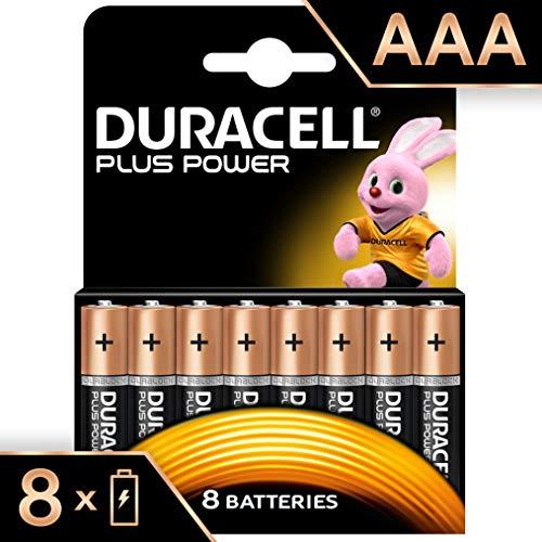 Duracell Plus Power Typ AAA Alkaline Batterien, 8er Pack Ultra Alkaline 9v Batterien
