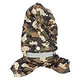 Hrph Haustier-Hund-Regen-Mantel-Kleidung-Hundewelpen-beiläufige wasserdichte Jacken-Kostüme Neu
