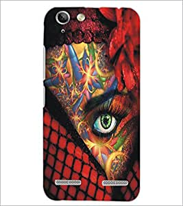 PrintDhaba Bright Eye D-5448 Back Case Cover for LENOVO A6020a46 (Multi-Coloured)