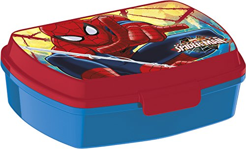 Stor 33474 Spiderman- Sandwichera Rectangular, Compuesto, Multicolor, 15x 10x 5 cm