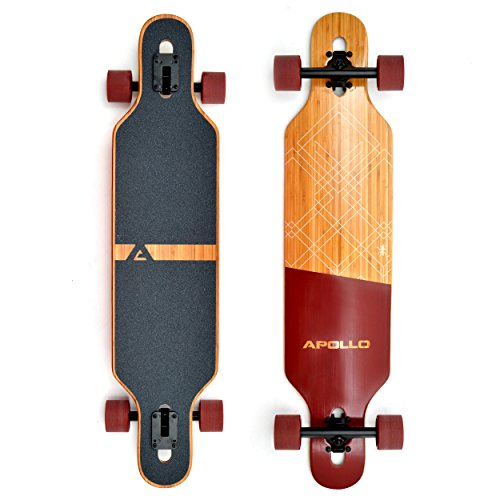 Apollo Longboard Special Edition Komplettboard mit High Speed ABEC Kugellagern, Drop Through Freeride Skaten Cruiser Boards