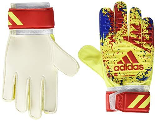 adidas Erwachsene Classic TRN Soccer Gloves, solar Yellow/Active red/Football Blue, 10