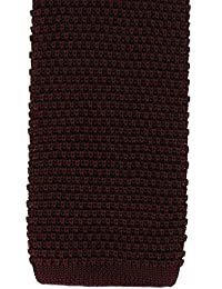 """""""Burgundy Silk Knitted Tie by Michelsons"""""""
