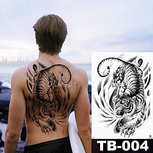 tzxdbh Big Large Full Back Brust Tattoo Aufkleber Buddha Rosenkranz Drachen Body Art Temporär Wasserdicht für Frauen - Kunst Der Rosenkranz In Der