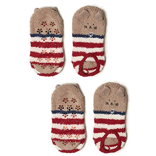 dede600a2bfe05 FENICAL Calcetines Animales de invierno Lindo Cozy Warm Fuzzy Slipper  Calcetines Soft Coral Velvet Calcetines calientes