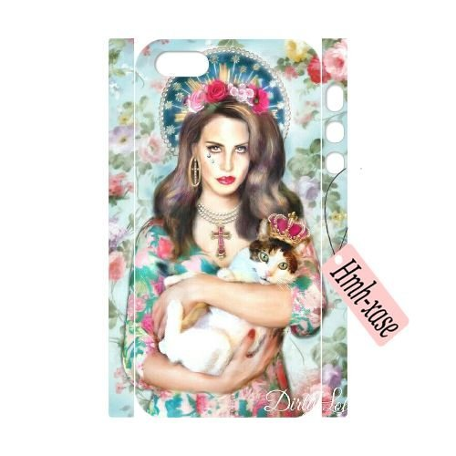 DIY 3D Case Cover for iPhone 5,iPhone 5s w/ Lana Del Rey image at Hmh-xase (style 2)