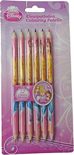 tifte - 6 Buntstifte mit 12 Farben (2 pro Stift) - Disney Princess (Rapunzel-zeichen)