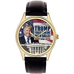 President Donald Trump White House Wrist Watch. Finally Someone with Balls. Classic Americana!