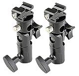 BlueBeach 2 Piezas Tipo E Profesional Universal Luz soporte giratorio caliente calzado Flash Holder montaje con soporte de paraguas para Canon y Nikon