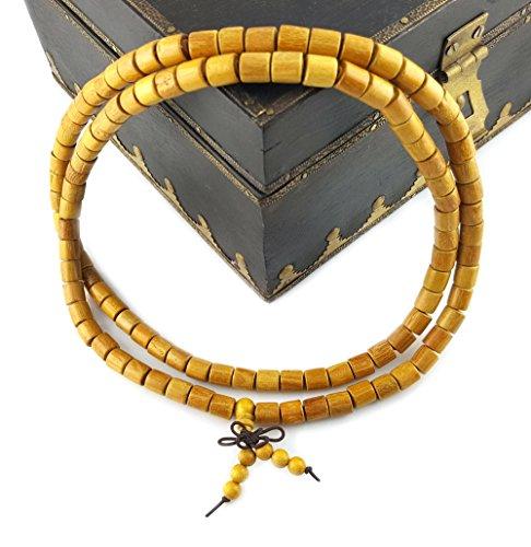 Sandelholz Mala Gebetskette/NATUR/108 Perlen 8 mm/DEUTSCHER HÄNDLER/Blitzversand buddhistische Halskette - Kette//MIND-CARE-ESSENTIALS