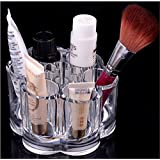 LHWY Plum Flower Clear Acrylic Shaped Cosmetic Lipstick Brush Holder Makeup Case