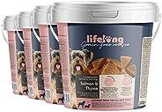 Amazon-Marke: Lifelong - Hundeleckerli, ohne Weizen mit Mono-Proteinquelle - Lachs, Karotten & Thymian (4