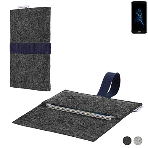 flat.design Handy Hülle Aveiro für Bluboo Edge passgenaue Filz Tasche Case Sleeve Made in Germany