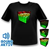 Cube Equalizer LED T-Shirt Party Retro Shirt