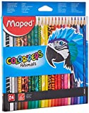 Maped 832224–Pack de 24Crayons animaux