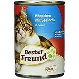 Bester Freund Katzennassfutter Häppchen mit Seelachs in Sauce, (415 g)