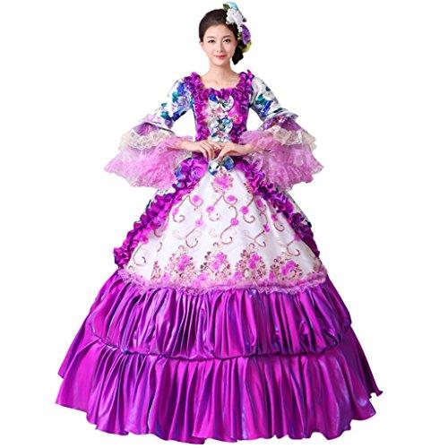 Cosplayitem Layered Viktorianischen Kleid Palace Maskerade Kleider Kostüm für Damen Set von Kleid...