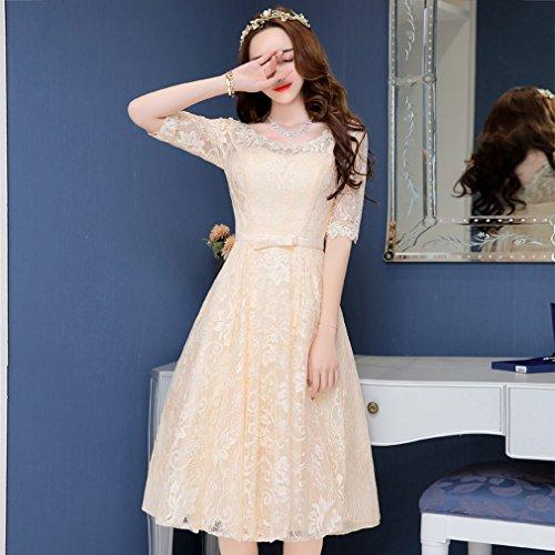 bai Moderne Braut Kleid in der Langen Abschnitt der Spitze Runde Hals ?rmel Kleid Kleid Kleid...