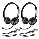 Mpow PC Headset, Multi-Use USB Headset & 3.5mm Skype Headset Chat Headset Office