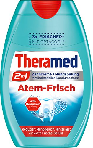 Theramed Zahncreme 2in1 Atem-Frisch, 4er Pack (4 x 75 ml)