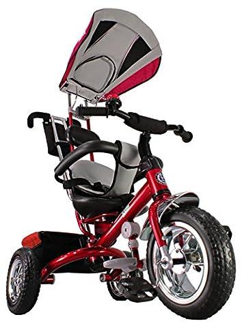 Kiddo Red Smart Design 4-in-1 Childrens Tricycle Kids Trike 3 Wheel Bike Parent New (Red)