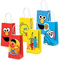 ‏‪Sesame Street Party Bags Goody Favor Bags For Kids Adults Birthday Party Sesame Street Themed Party Supplies Favors 18 Piece‬‏