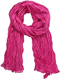 niceEshop(TM) Cotton and Linen Crinkle Long Scarf Shawl for Women ,Roseo