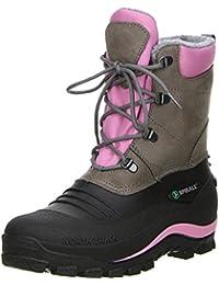 SPIRALE Damen Winterstiefel Snowboots schwarz/braun/rosa