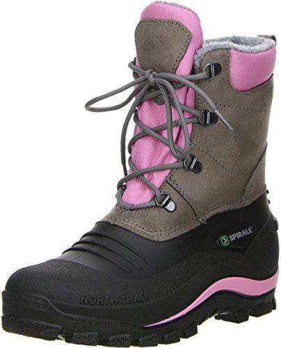 SPIRALE Damen Winterstiefel Snowboots schwarz/braun/rosa, Größe:39;Farbe:Rosa