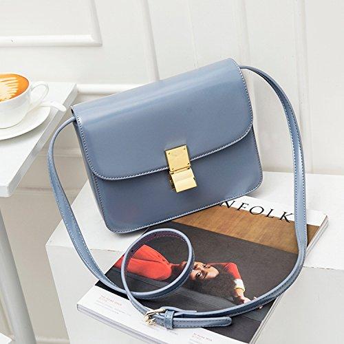 1a1462134f799 Weibliche Tasche Kuriertasche Mode Retro Tofu Tasche Einzigen Akkordeon  Kleinen Quadratischen Tasche Blaue Trompete