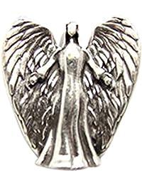 """'Ange de protection arrière talisman étiquetée """" Angels Welcome"""" Taille 35 mm x 30 mm"""