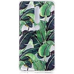 BONROY Hülle, Schutzhülle Case Silikon- Crystal Clear Ultra Dünn Durchsichtige Backcover Handyhülle TPU Case für Nokia 6 (2018) - Bananenstaude