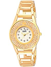 Ziera ZR8028 Special Dezined Collection Golden Bangle Analog Watch - For Girls
