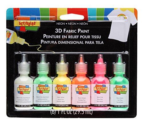 I Love schaffen zu Scribbles 3D Stoff Farben 1Oz 6kg-neon