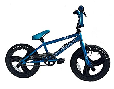 "Rooster XR9 Kids 18"" 3 Spoke Tony Hawk Mag Wheels BMX Bike Gyro Stunt Pegs RS88"