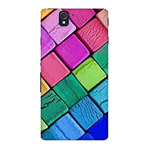 Delighted Block Colors Print Back Case Cover for Sony Xperia Z