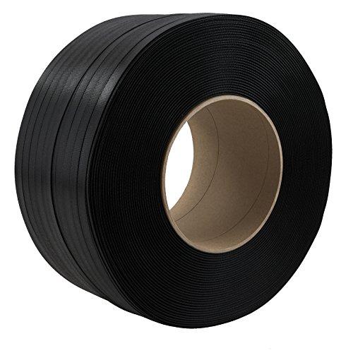 1 Rolle PP Umreifungsband Breite 16 mm Stärke 0,65 mm Länge je 2000 m Reißfestigkeit 215 KG Kern 200 mm Schwarz