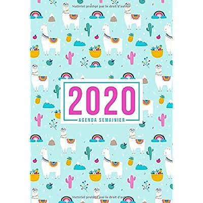 Agenda semainier 2020: Du 1er janvier 2020 au 31 décembre 2020 : aperçu hebdomadaire et mensuel, journal, planificateur & organiseur : Thème Lama 974-4