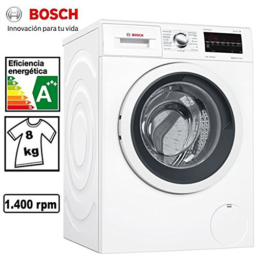 Bosch Serie 6 WAT28469ES Independiente Carga frontal 8kg 1400RPM A+++-30% Negro, Color...