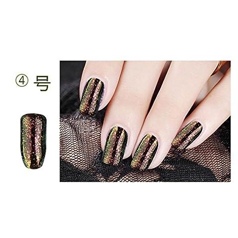 Hunpta 4G/Box optique décoloration à ongles Poudre de paillettes en brillant à ongles Poudre à