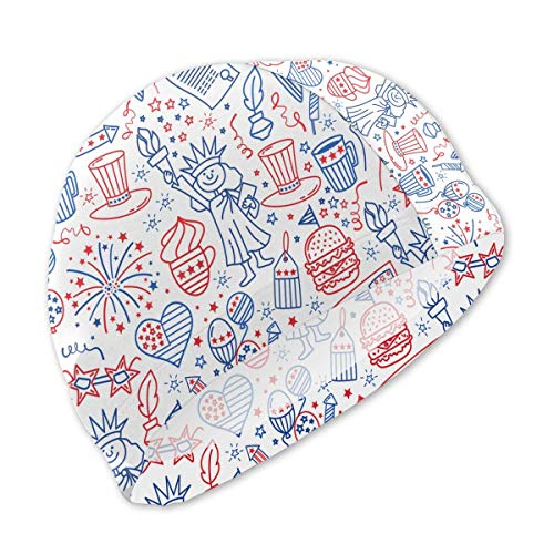 Schwimmhaube, Patriots USA Day Swim Caps for Kids Boys and Girls Baby Bathing Caps for Long and Short Hair